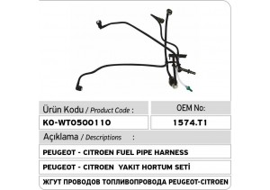1574T1 Peugeot - Citroen Yakıt Hortum Seti (for Bosch CP1H Type Pump)