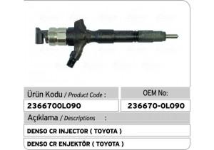 236670-0L090 Denso CR Enjektör ( TOYOTA )