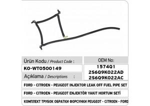 1574Q1 2S6Q9K022AD 2S6Q9K022AC Ford - Citroen - Peugeot Enjektör Geri Dönüş Yakıt Hortum Seti