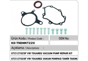 07Z127025F VW Touareg Tandem Vakum Pompası Tamir Takımı