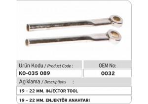 19-22 MM Enjektör Anahtarı