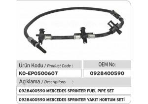 0928400590 Mercedes Sprinter Enjektör Geri Dönüş Hortum Seti
