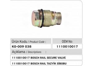 1110010017 Bosch Basınç Sınırlama Valfi