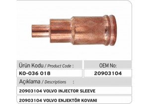 20903104 Volvo Enjektör Kovanı