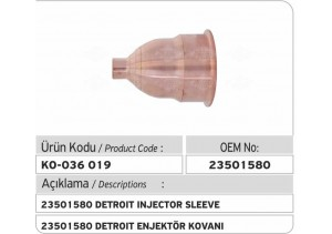 23501580 Detroit Enjektör Kovanı