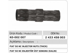 2433458003 Fiat 50 NC Enjektör Üst Tutucu (kalın)