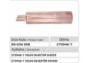 270946-7 Volvo Enjektör Kovanı