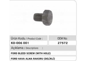 27572 Ford Hava Alma Rakoru (delikli)