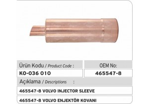 465547-8 Volvo Enjektör Kovanı