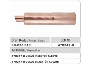470247-8 Volvo Enjektör Kovanı