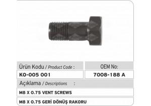 7008-188A M8 X 0.75 Geri Dönüş Rakoru