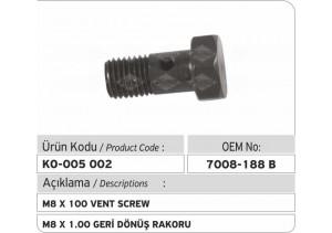 7008-188B M8 X 1.00 Geri Dönüş Rakoru