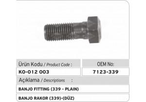 7123-339 Banjo (düz)