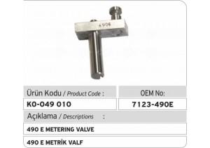7123-490 E Metrik Valf