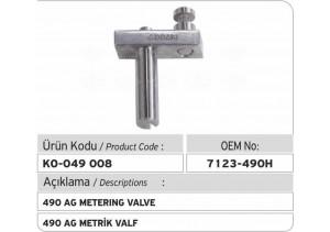 7123-490 H Metrik Valf