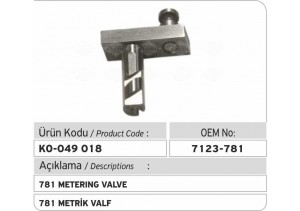 7123-781 Metrik Valf