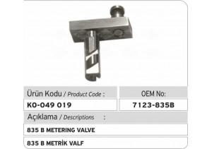 7123-835 B Metrik Valf