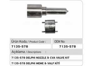 7135-578 Delphi Meme ve CVA Valf Kiti