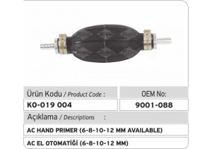 9001-088 AC El  Otomatiği (6-8-10-12 MM)