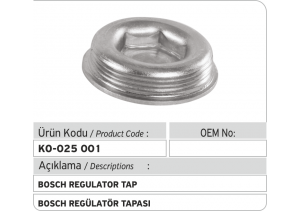 Bosch Regulator Tapası