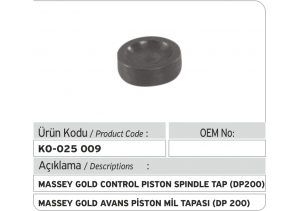 Massey Gold Avans Piston Mil Tapası (DP 200)