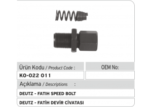 Deutz-Fatih Devir Civatası