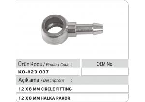 12 X 8 mm Halka Rakor