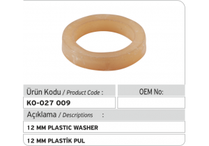 12 MM Plastik Pul
