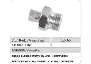 Bosch 16 MM Hava Alma Rakoru