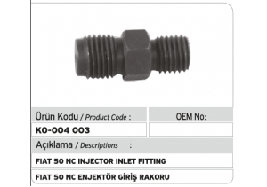 Fiat 50 NC Enjektör Giriş Rakoru