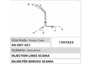 1357633 Scania Enjektör Borusu
