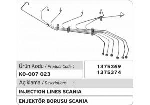 1375369 Scania Enjektör Borusu 1375374