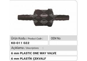 6 MM Çek Valf (Plastik)