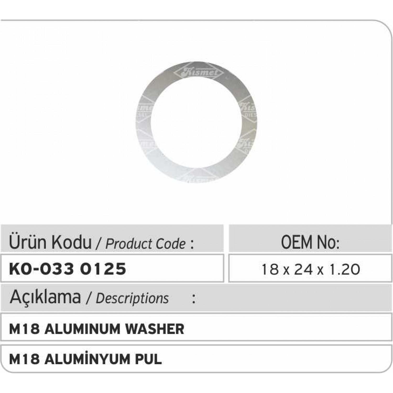 M20 Aluminyum Pul