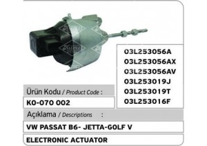 VW Passat B6-Jetta-Golf V Turbocharger Electronic Actuator