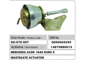 Mercedes Axor 1840 Euro 5 Turbocharger Wastegate Actuator