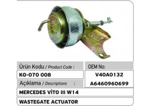 Mercedes Vito III W14 Turbocharger Wastegate Actuator