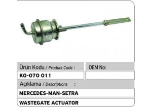 Mercedes-MAN-Setra Turbocharger Wastegate Actuator