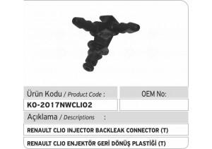 Renault Clio Enjektör Geri Dönüş Plastiği T