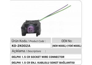 Delphi 1.5 Common Rail Enjektör Kablolu Soket Bağlantısı (Yeni Model)