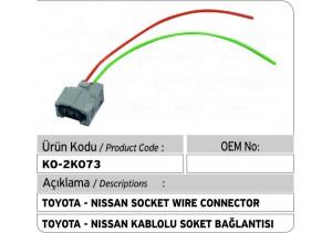 Toyota Soket Bağlantı Plastiği