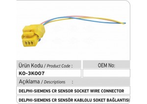 Delphi-Siemens Common Rail Sensör Kablolu Soket Bağlantı Plastiği
