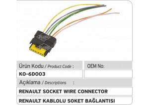 Renault Common Rail Enjektör Kablolu Soket Bağlantısı