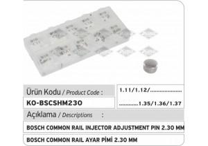 Bosch Common Rail Enjektör Ayar Şim Seti Q 2.30 mm