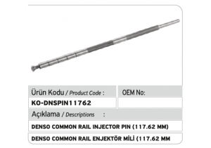 Denso Common Rail Enjektör Mili 117.62 mm