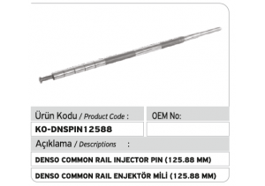 Denso Common Rail Enjektör Mili 125.88 mm