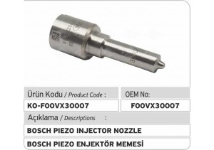 F00VX30007 Bosch Piezo Enjektör Memesi