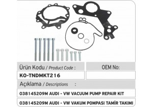 038145209M-F009D02008 Audi - VW Tandem Vakum Pompası Tamir Takımı