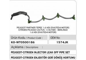1574JK Peugeot - Citroen Enjektör Geri Dönüş Borusu