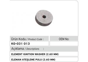 Eleman Ateşleme Pulu (2.60 mm)